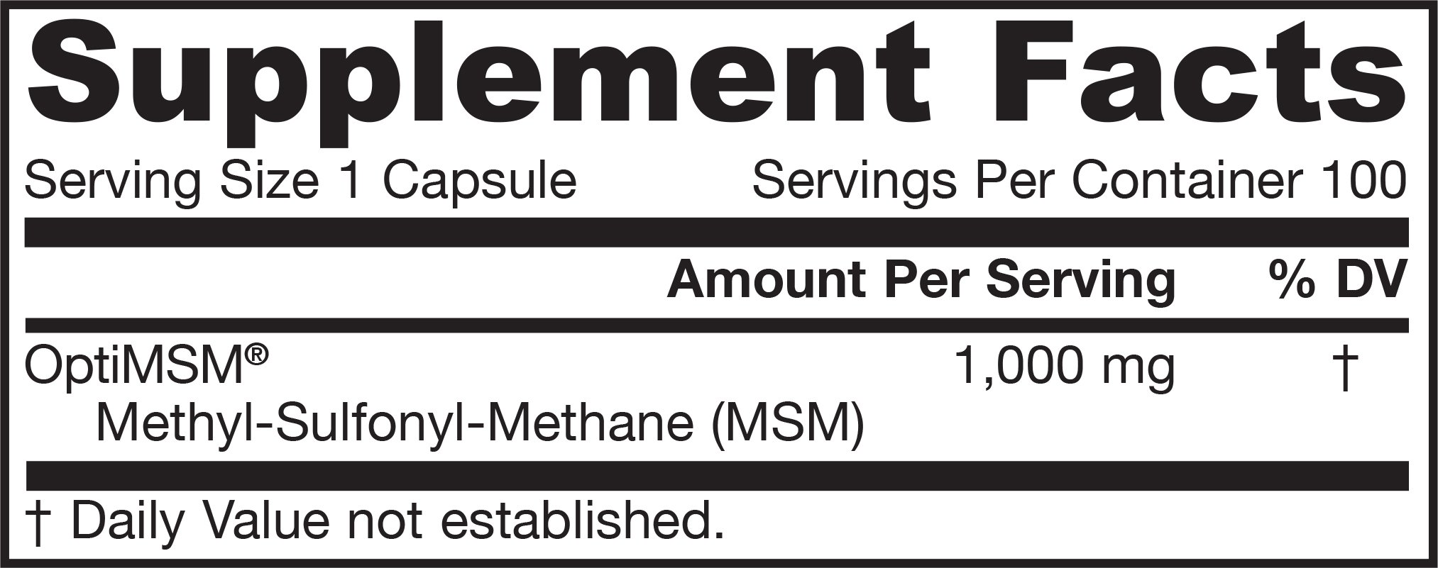 Jarrow MSM Sulfur 1000mg, 100 caps (Multi-Pack)
