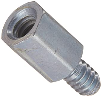 6-32 Screw Size Lyn-Tron 0.375 OD Zinc Plated Brass 2.125 Length, Pack of 5 Female