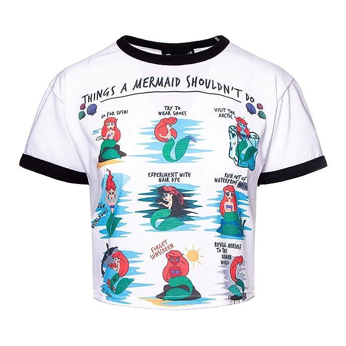Cosmic Top Crop o Camiseta de Manga Corta Mermaid Issues - L