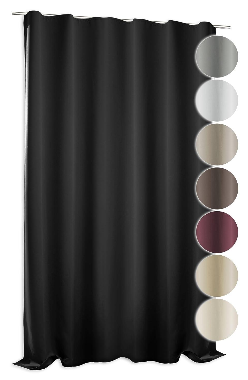 Verdunklungsgardine Blackout extra breit ca. 295x245 cm Kräuselband ...