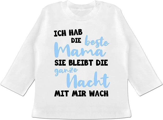 Muttertagsgeschenk Tochter /& Sohn Baby Shirtracer Baby Body Kurzarm f/ür Jungen und M/ädchen Ich hab die Beste Mama blau