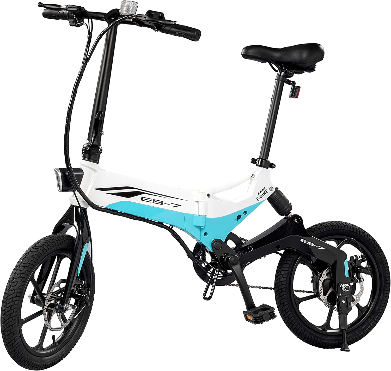 Swagtron Swagcycle EB-7 Elite bicicleta eléctrica plegable, ruedas ...