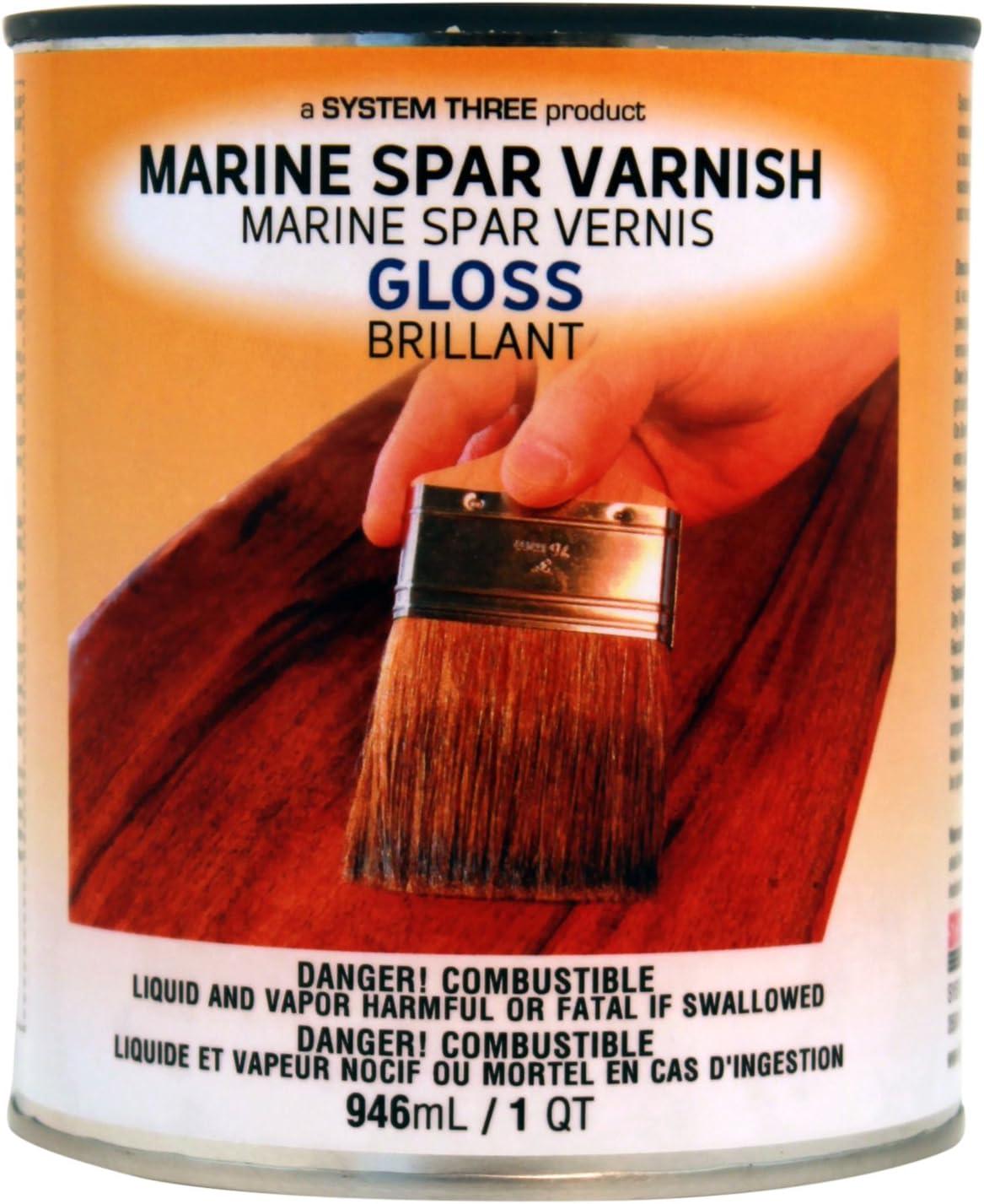 System Three 1850S16 Clear Marine Spar Urethane Varnish