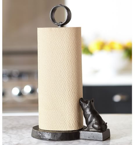Vintage Blacksmith Pig Paper Towel Holder | Pottery Barn