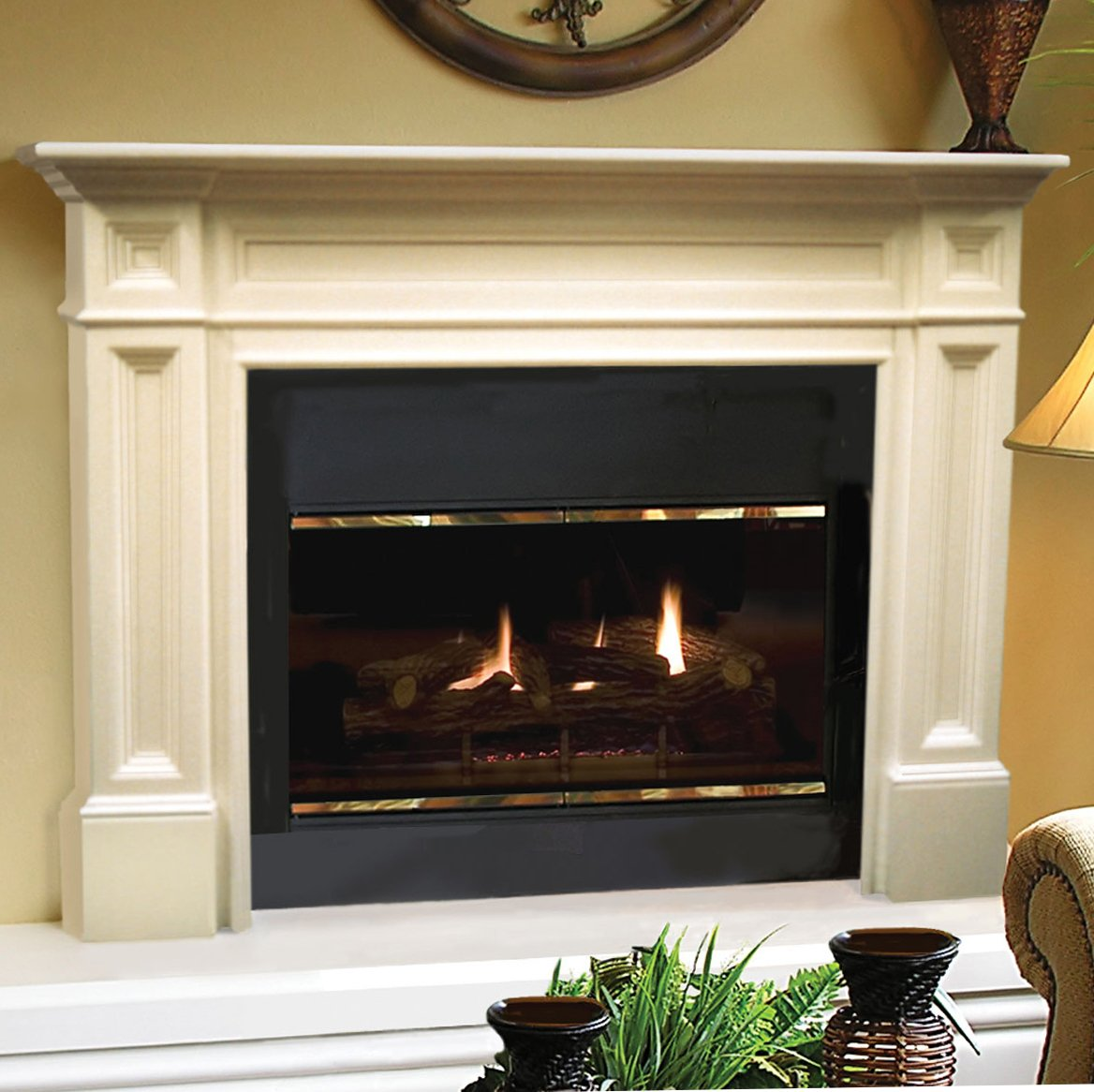 Pearl Mantels 140-56 Classique Fireplace Mantel, 56-Inch, Unfinished by Pearl Mantels