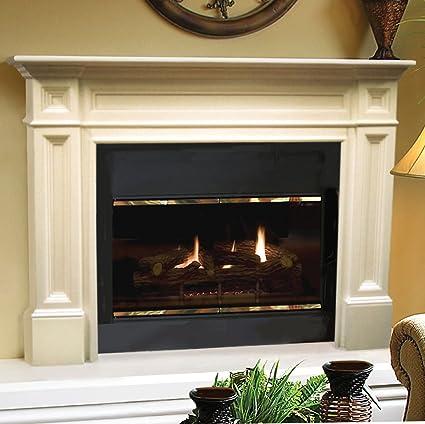 Amazon Com Pearl Mantels Inc 140 50 Pearl Classique Fireplace
