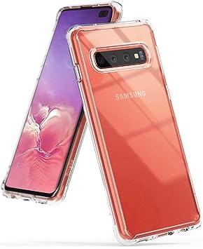Ringke Fusion Diseñado para Funda Samsung Galaxy S10 Plus, S10+ Protección Resistente Impacto Transparente Carcasa Galaxy S10 Plus - Clear