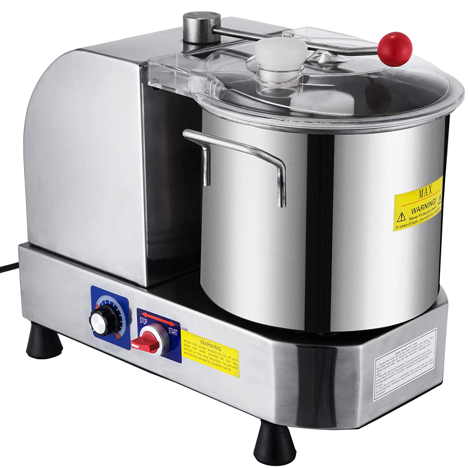 Happybuy Commercial Food Cutter 700W Food Cutter Mixer Machine 850/2000 RPM Food Grinder Commercial for Meat Vegetables and Fruit (Bowl Capacity 9L)