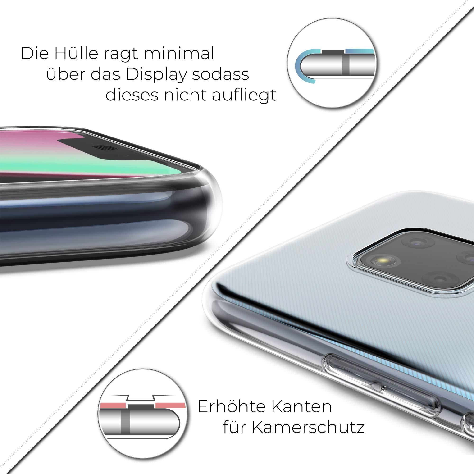 UTECTION Handyhülle Silikon für Huawei Mate 20 Pro - Robuster Schutz, Ultra-Slim, Ideale Passform - Qi-Kompatibel - Mate20 Pro Hülle Transparent - TPU Case Silikonhülle Durchsichtig
