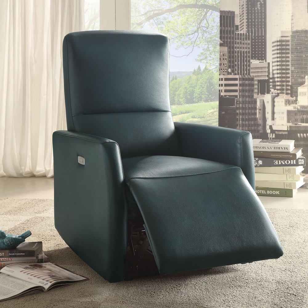 Amazon.com ACME Furniture 59407 Raff Power Motion Recliner Blue Leather-Aire Kitchen u0026 Dining & Amazon.com: ACME Furniture 59407 Raff Power Motion Recliner Blue ... islam-shia.org