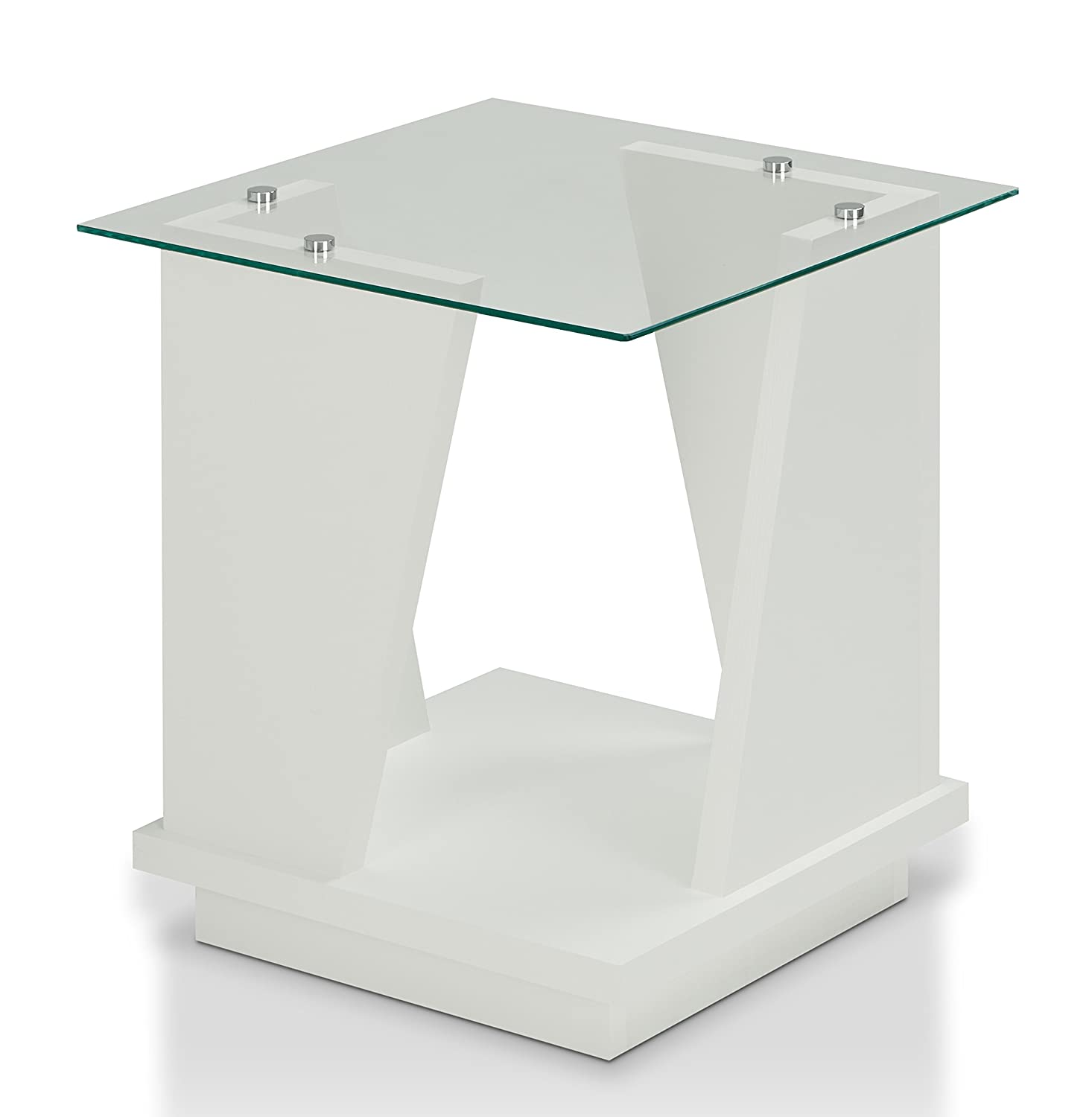 Charmant Amazon.com: HOMES: Inside + Out HFW 1795C2 Clio Modern End Table, White:  Kitchen U0026 Dining
