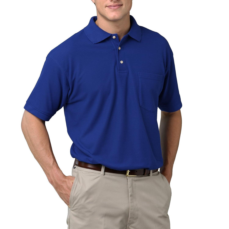 Adult Short Sleeve Superblend Pocket Pique Blue Generation BG7206