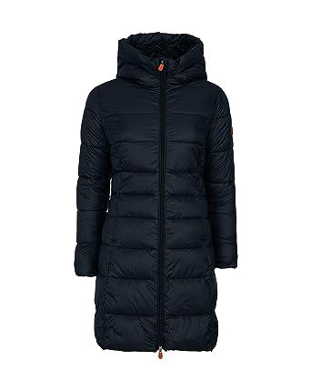 cb0a3a399aca Save The Duck Women's Long Hooded Basic Black 1 at Amazon Women's Coats Shop