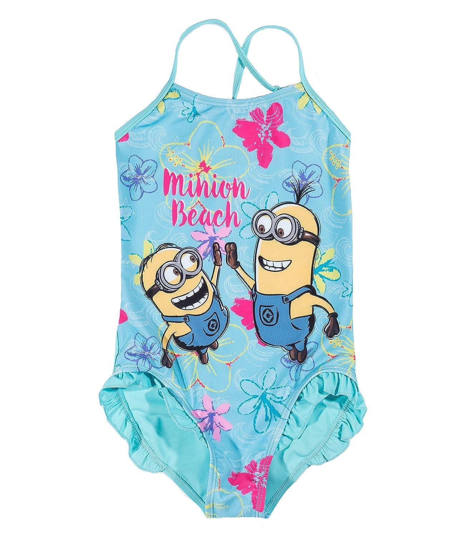Minions Despicable Me Chicas Traje de baño - Azul: Amazon.es ...