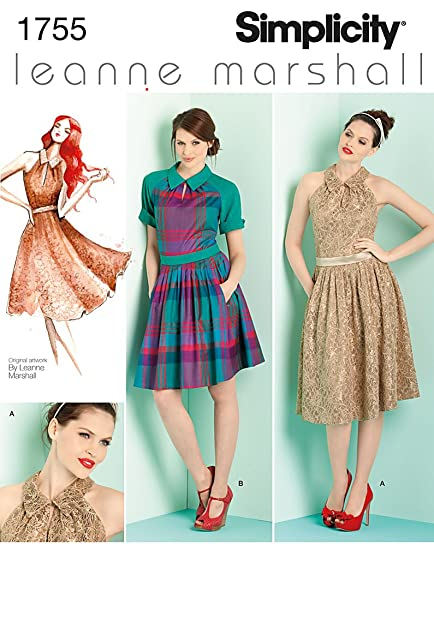 Simplicity Muster 1755.d5 4 6 8 10 12 Misses und Miss Petite Kleider ...