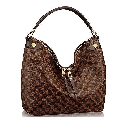 9f743e58cfa4 Amazon.com  Authentic Louis Vuitton Damier Duomo Hobo Shoulder Handbag  Article N41861 Made in France  Shoes