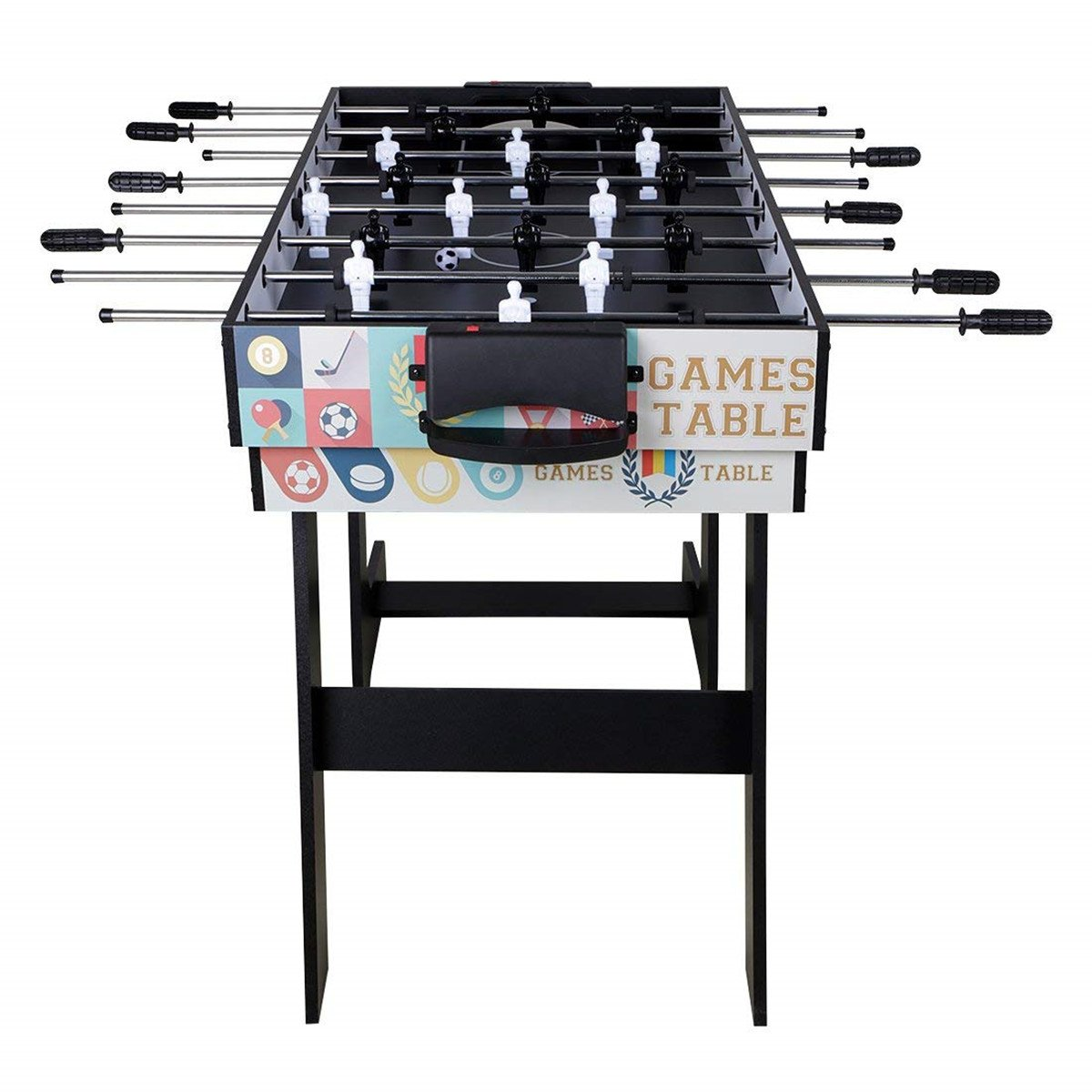 Deluxe 5 in 1 Top Game Table Folding Table-Table Tennis,Glide Hockey,Chess,Pool,Basketball Set by QYBK (Image #3)