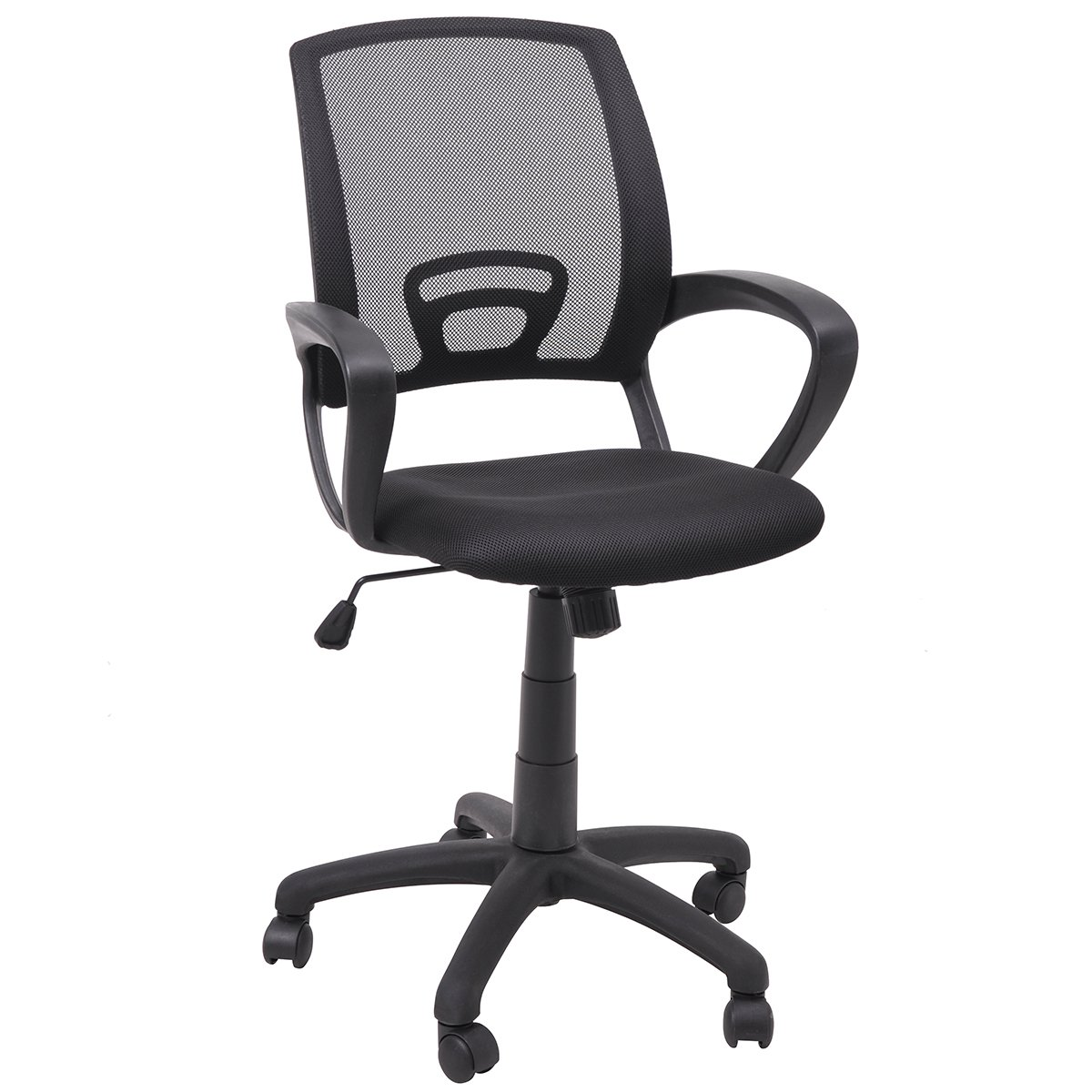 FurnitureR Office Chair, Ergonomic, Executive Computer Desk, Mid Back Mesh Swivel, Black