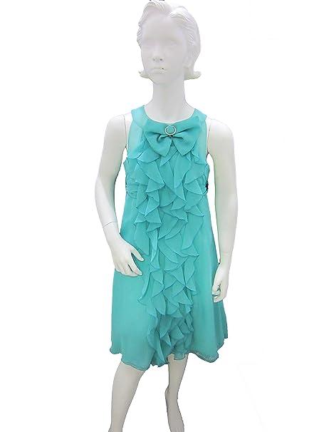 Vestiti Verde Tiffany Bambina.Vestito Abito Da Cerimonia Bambina Luciano Soprani Verde