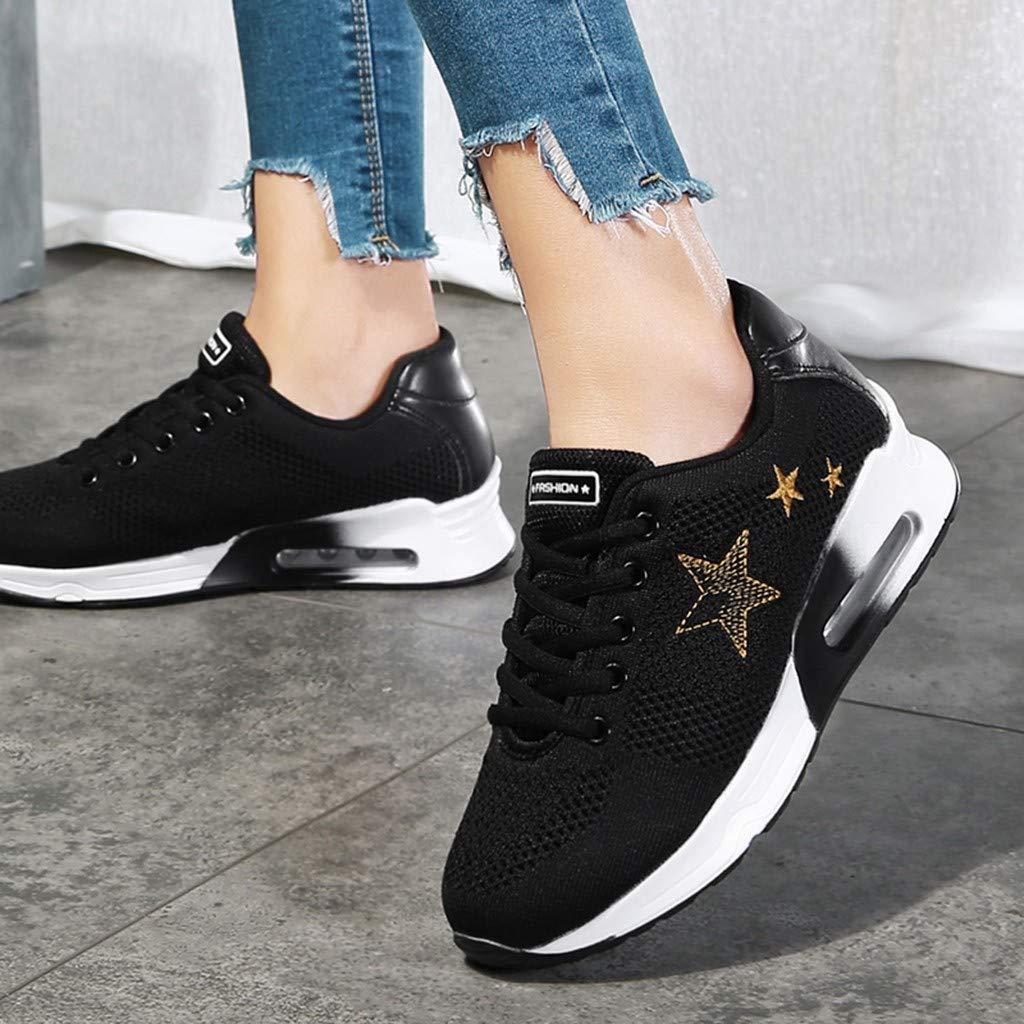 Moonuy Femmes /Étoiles Sneakers Dames Casual Chaussures /À Lacets Sports Chaussures Femmes Respirant Chaussures De Course Plateforme Chaussures