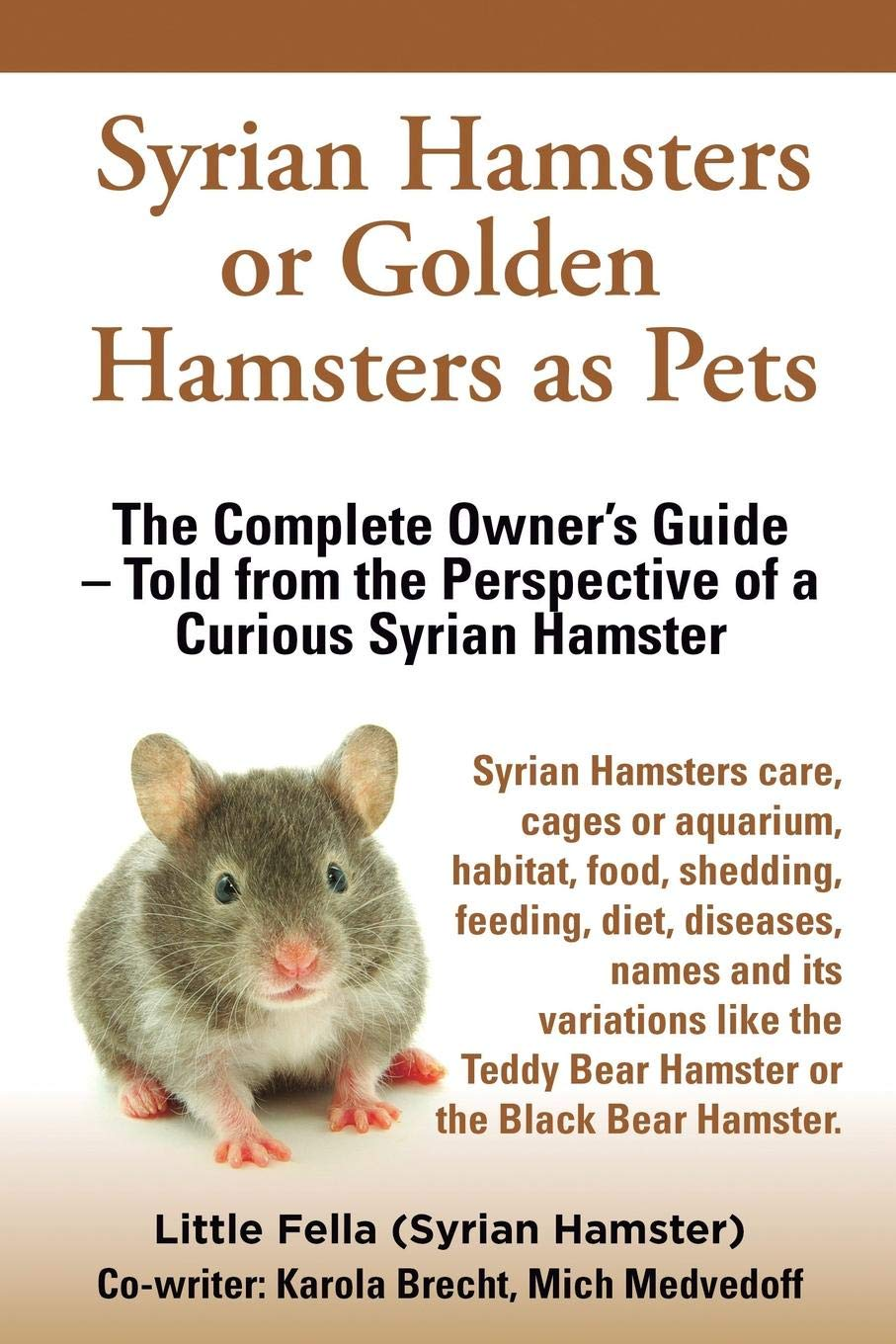 Syrian Hamsters or Golden Hamsters as Pets: Care, cages or