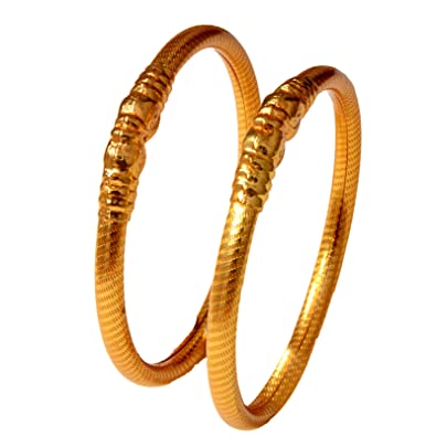 312f63c1013 Mansiyaorange Gold Traditional 1g Fine Hand Line Design Work Bangles ...