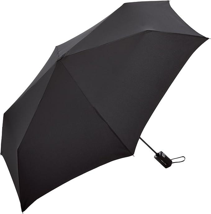 Fare – Paraguas plegable de bolsillo – 5476 – SLIMLITE Flat – Windproof negro talla única
