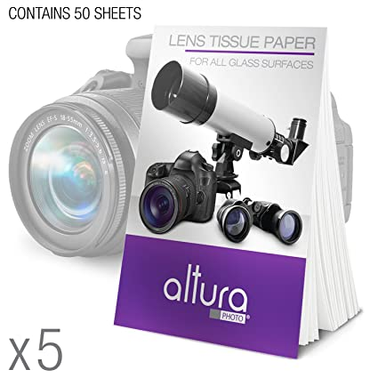 (250 Sheets/5 Booklets)   Altura Photo Lens Cleaning Tissue Paper +  MagicFiber