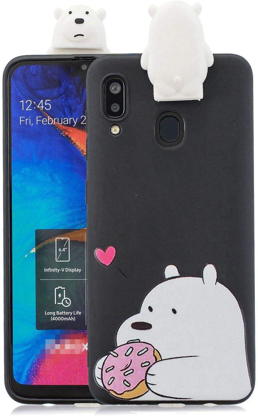 Jorisa H/ülle Kompatibel mit Samsung Galaxy A70,Niedlich Tier Hase Muster mit Sch/ön 3D Karikatur St/änder Handyh/ülle,Ultra D/ünn Weich Silikon TPU Sto/ßfest Schutzh/ülle,Rosa