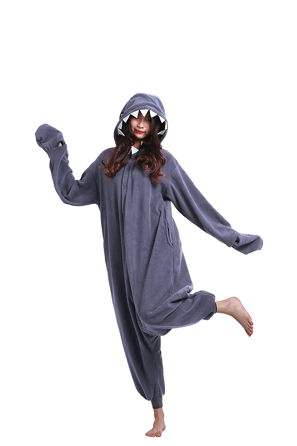 Amazon.com: Magicmode Unisex Cosplay Animals Onesie Pajamas Halloween Costumes Hoodie Sleepwear Dress: Clothing