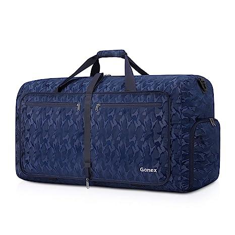 Gonex Bolsa de Viaje 60L, Plegable Ligero Bolso Equipaje Maleta Grande Bolsas Deportes Gimnasio Maletas de Mano Impermeable Duffel Travel Bag para ...