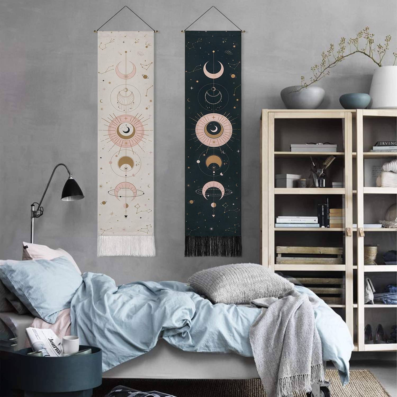 Art Wall Tapestry Gifts Moon Phase Lunar Display Wall Hanging Tapestry Decor USA