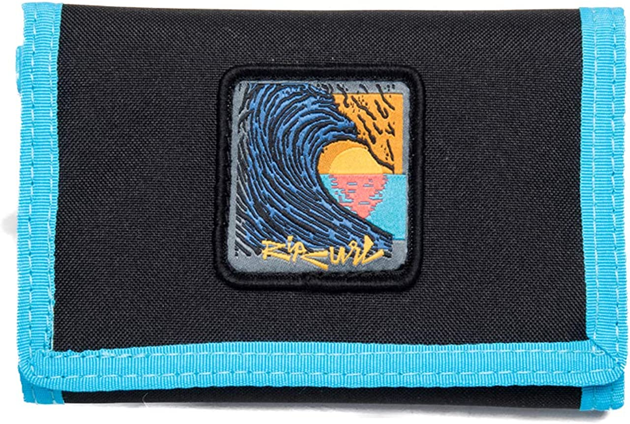 Rip Curl Trifold Wallet ~ Badge Surf black blue: Clothing