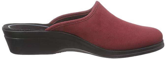 Romika Remo 122 FR, Damen Pantoletten, Rot (Rot 400), 41 EU