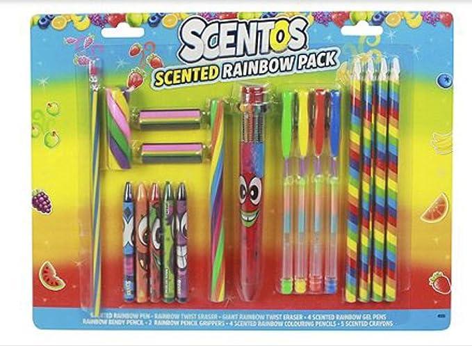 Scentos - Pack arcoíris aromático: Amazon.es: Oficina y papelería