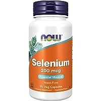 Now Foods, Selenium, 200mcg, 90 veganistische capsules