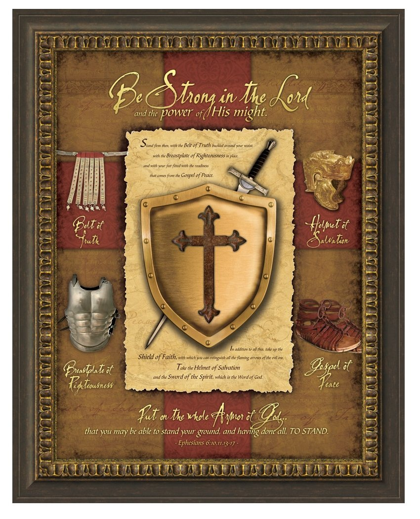 Carpentree ''Full Armor of God'' Framed Artwork, 30 by 24.75-Inch by Carpentree