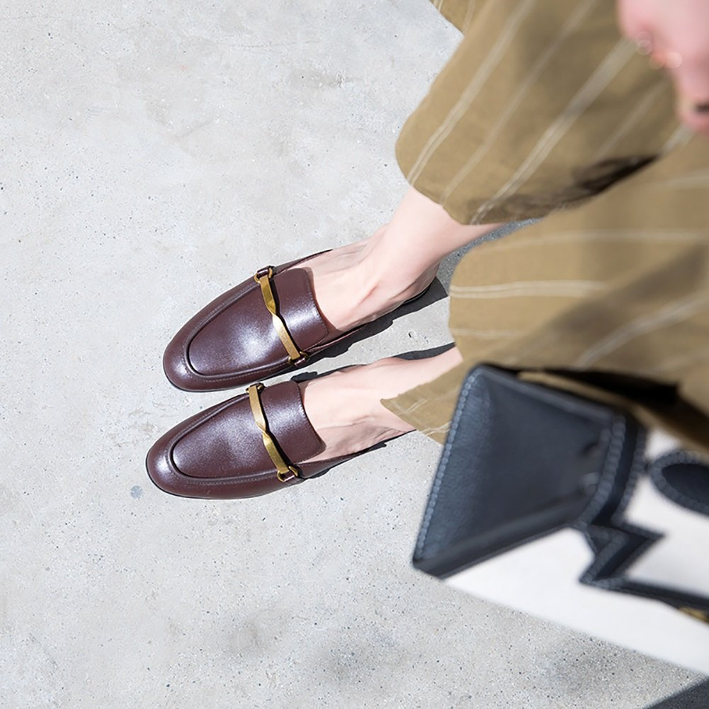 XUE Damenschuhe Leder Leder Leder Sommer Komfort Sandalen Hausschuhe & Flip-Flops Leichte atmungsaktive Wanderschuhe aushöhlen Mode Office Flat Loafers (Farbe   B Größe   38) b05966