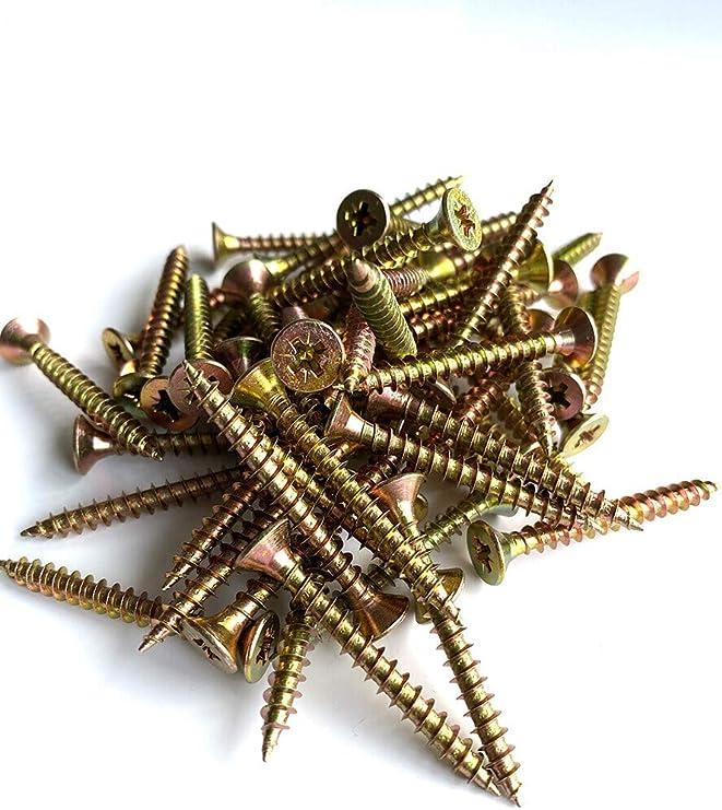 Forgefix MPS450Y - Tornillo para madera (tamaño: 4.0 x 50mm ...