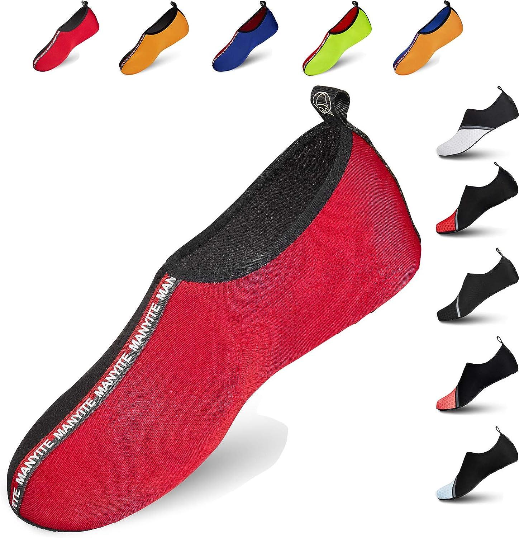 Bravover Chaussures Aquatiques Chaussures de Sport Nautique Pieds Nus /à s/échage Rapide Aqua Yoga Chaussettes Slip-on pour Hommes Femmes Enfants