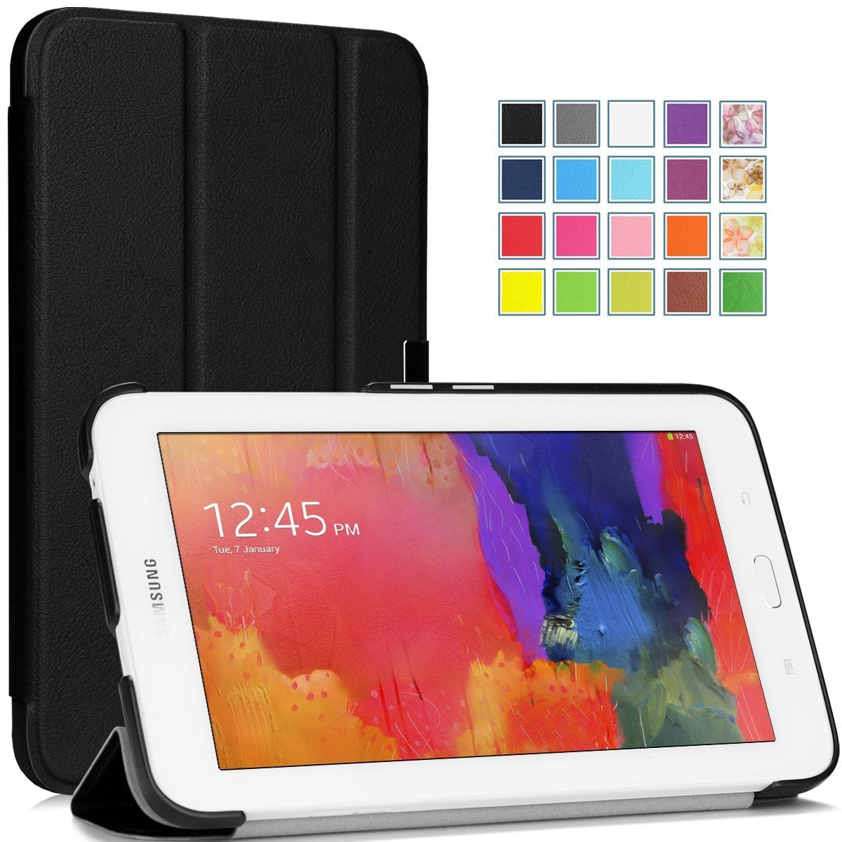 Fintie Samsung Galaxy Tab E Lite 70 Case Slim Fit Folio Stand T111 3 White Tisuns Ultra Lightweight Cover For