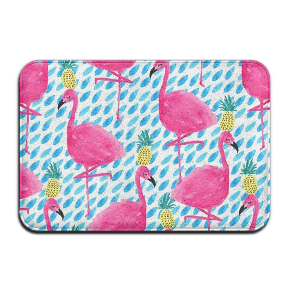 BINGO BAG Flamingo Print Indoor Outdoor Entrance Printed Rug Floor Mats Shoe Scraper Doormat For Bathroom, Kitchen, Balcony, Etc 16 X 24 Inch