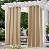 NICETOWN Outdoor Patio Curtains Waterproof, Rustproof Silver Grommet Porch Decor Thermal Insulated Curtain for Outdoor…