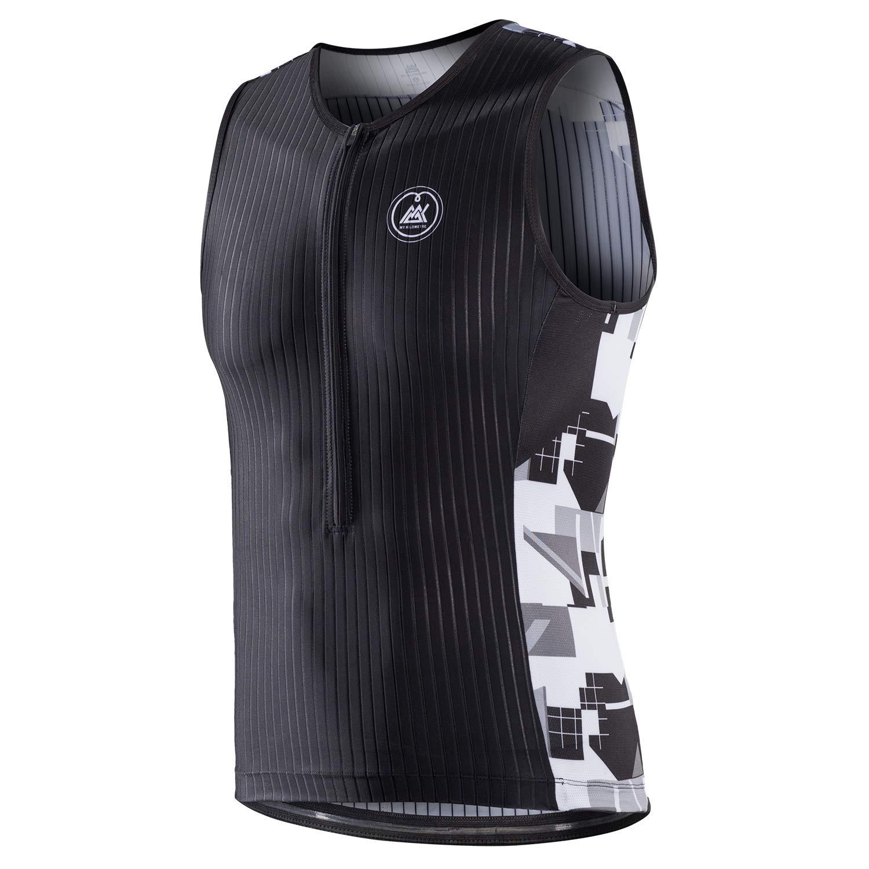 My Kilometre Triathlon Mens Tri Top Pockets Sleeveless Tri Singlet Cycling Jersey