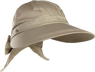 Cotton Blend Summer Visor Sun Hat w  Bow Tie – SPF 50+ UV Protection f0894d4d510