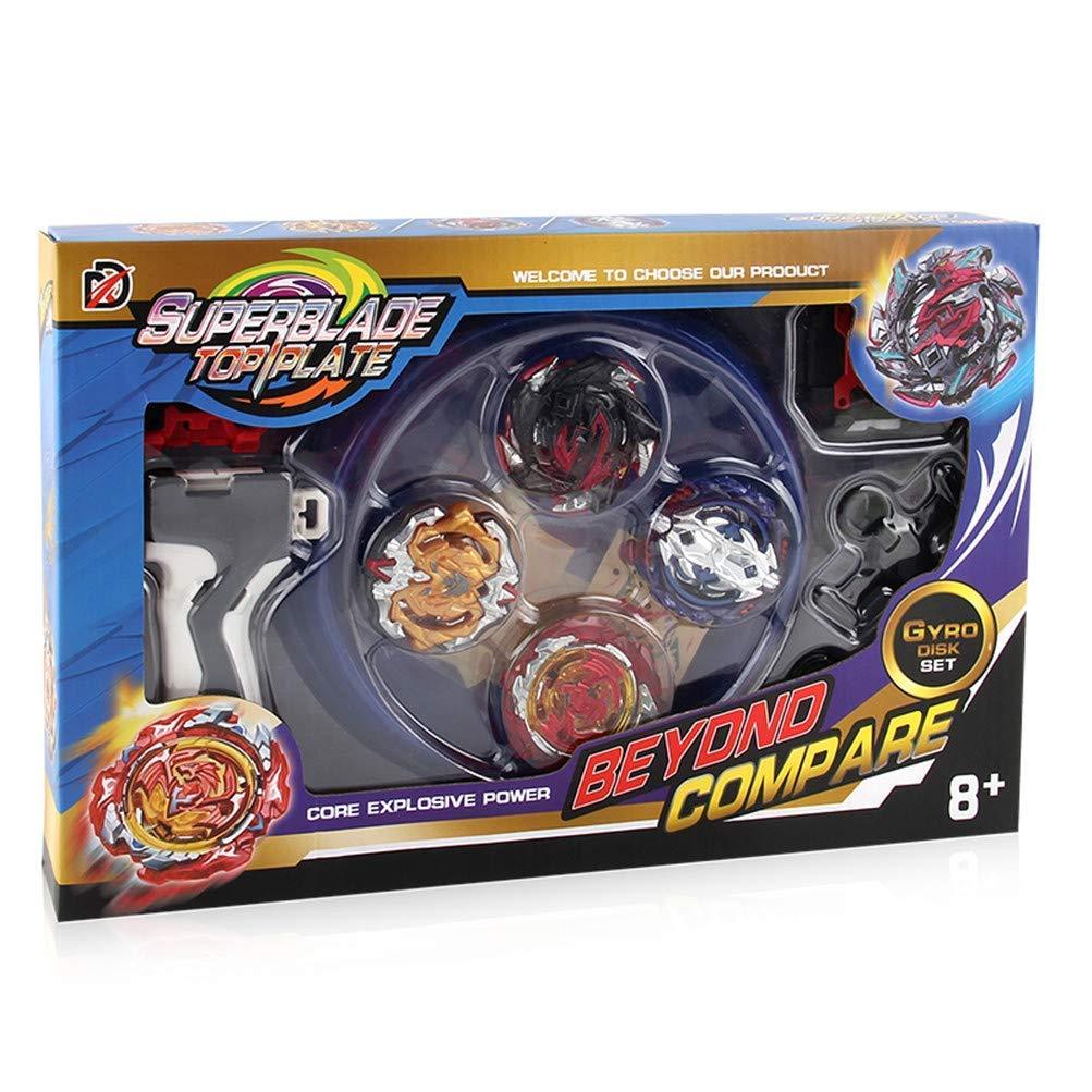 4D Fusion Modell Metall Masters Beschleunigung Launcher Speed Kreisel mit Basis-Arena f/ür Kinder Spielzeug Kindertag Angel ZYJ 2019 Kampfkreisel Set Weihnachten XD168-10 Ostern Geburtstag Jahr