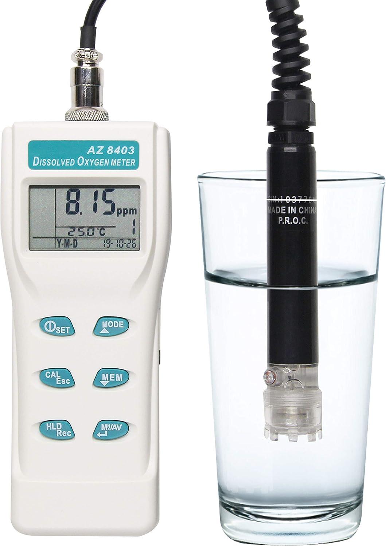 Huanyu Oxígeno disuelto 0.0 a 199.9% Analizador de medidor de ...