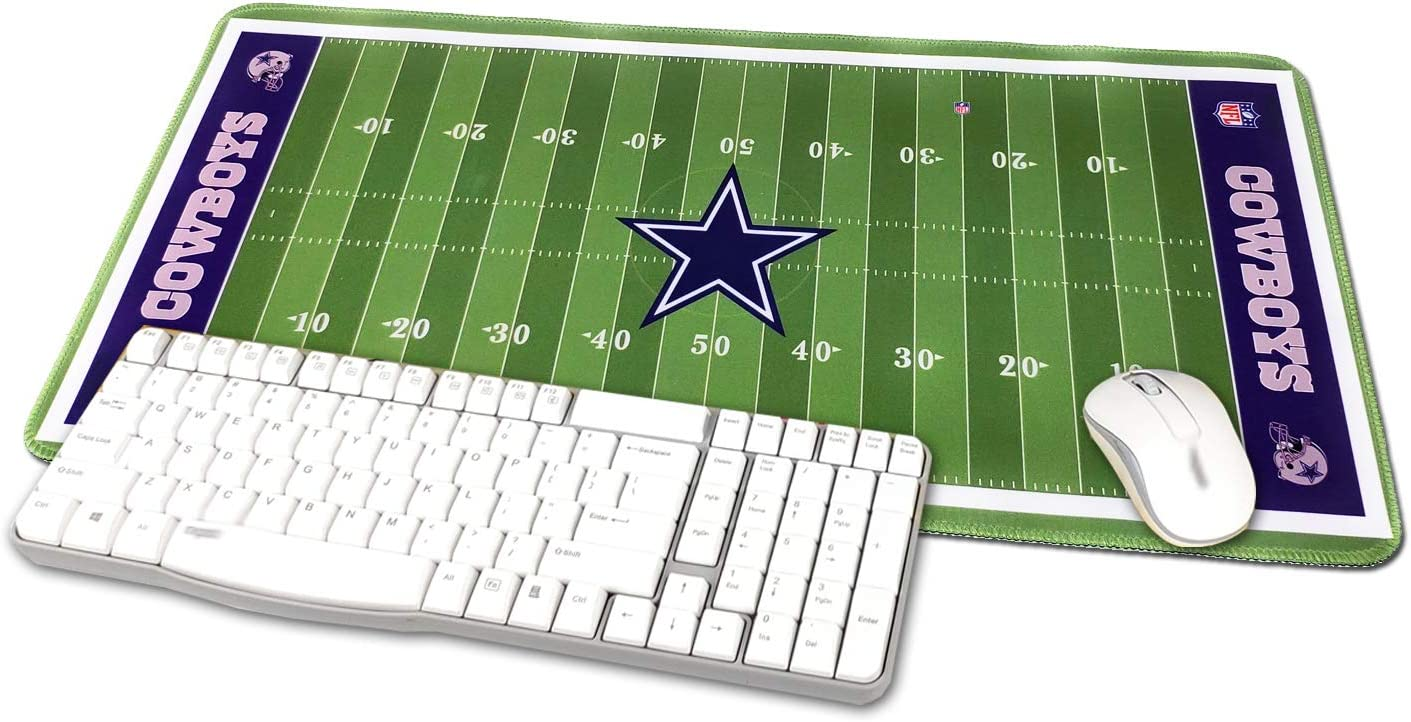 """TRIPRO Football Field Design Large Gaming Mouse Pad XXL Extended Mat Desk Pad Mousepad,Size 23.6""""x11.8"""",Water-Resistant,Non-Slip Base for Cowboys Fans Gifts"""