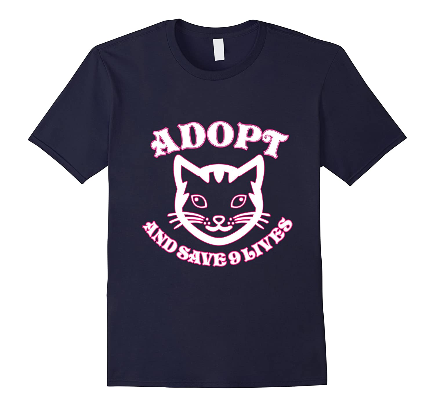 Adopt A Cat And Save 9 Lives T-Shirt-azvn