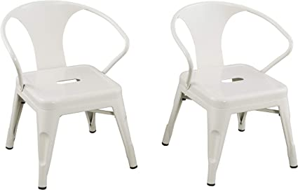 Kids Industrial Metal Activity Chairs 255001 16.9 x 16.5 x 21.3 ACEssentials Mint Green